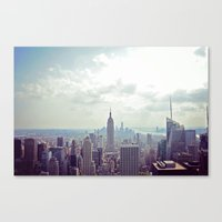 nyc Canvas Prints featuring NYC by Shilpa