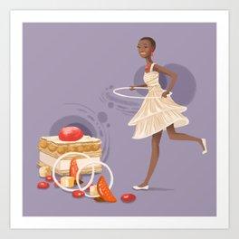 Blood Orange Millefeuille Art Print
