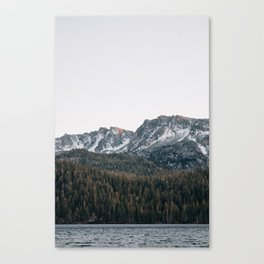 Last light in the Sierra Canvas Print