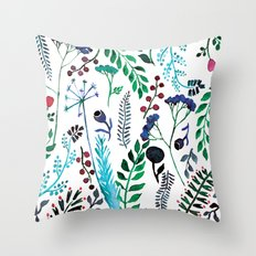 Plant pattern Throw Pillow