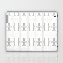 Simply Mid-Century Retro Gray on White Laptop & iPad Skin