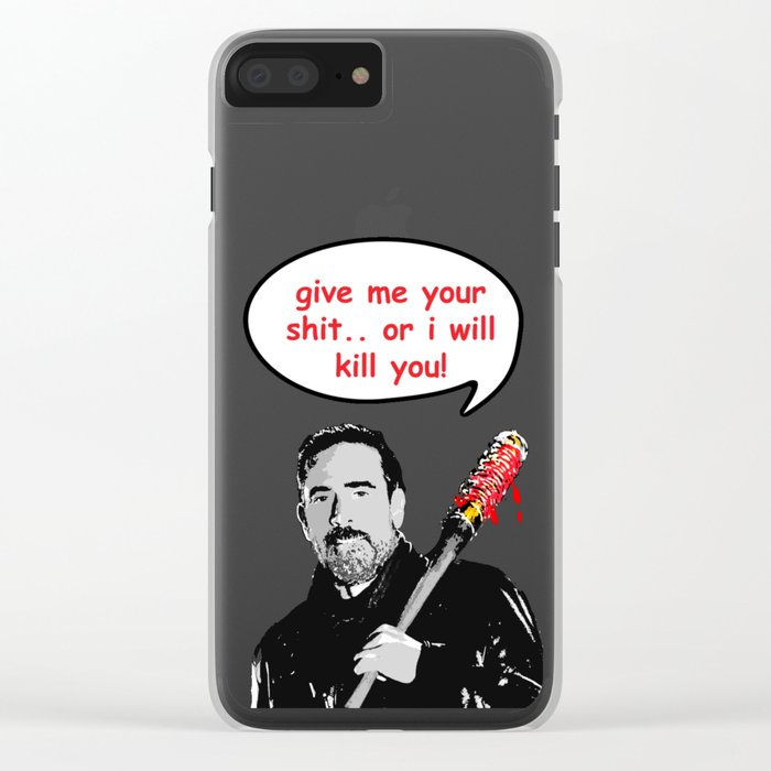 lucille is hungry Clear iPhone Case