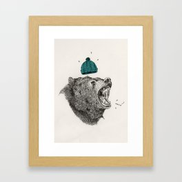bear and cigaret  Framed Art Print