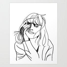 Aly Art Print
