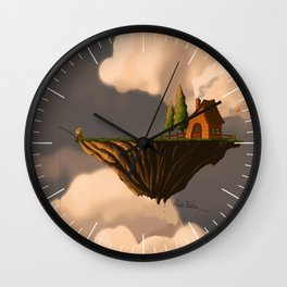 Fishing in the Clouds Wall Clock