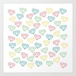 Shine Bright Like a Diamond - White Art Print