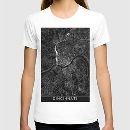 Cincinnati Black Map T-shirt