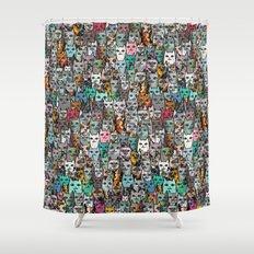 Gemstone Cats Shower Curtain