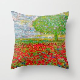 I blossomed... just because I can Throw Pillow