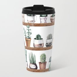 Cactus Shelf Rose Gold Green Travel Mug