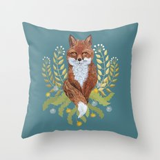 Fox Brown Throw Pillow
