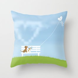 Dogs In Love Throw Pillow