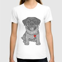 rottweiler T-shirts featuring Courageous Heart- Rottweiler by DiAnne Ferrer