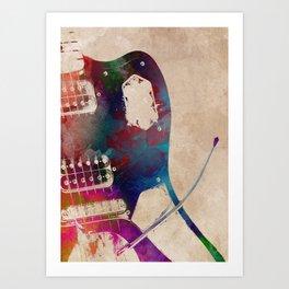 guitar art 3 #guitar #music Art Print