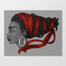 Red Ribbon Canvas Print