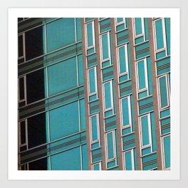 Manhattan Windows - The Sea Art Print