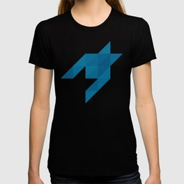 Origami houndstooth blues T-shirt