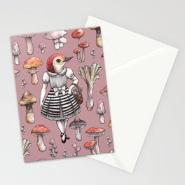 Mushroom Pickers - Lady Woodpecker Stationery Cards