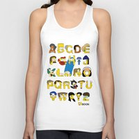 simpsons Tank Tops featuring Simpsons Alphabet by Mike Boon