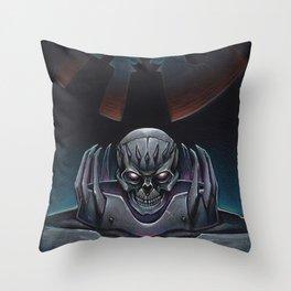 Skull knight_BERSERK Throw Pillow