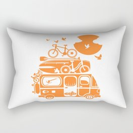 Funny family vacation camper Rectangular Pillow