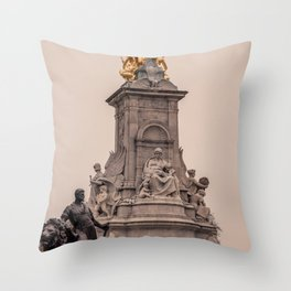 Victoria Monument as seen from Buckingham Palace side London England Throw Pillow