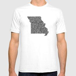 Typographic Missouri T-shirt