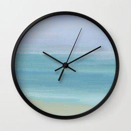 Seashore With Beautiful Calm Ocean Wall Clock
