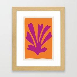 Wall Art Print, Leaf Print, Wall Art, Minimalist Print, Modern Print, Scandinavian, Leaves Prints, M Framed Art Print