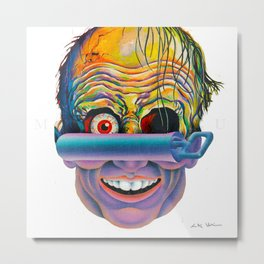 DEAMON HEAD Metal Print