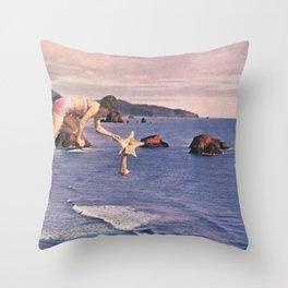 Starfishing Throw Pillow