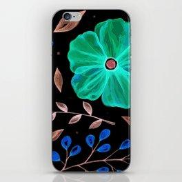 Elegnat green flower texture iPhone Skin