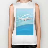 airplane Biker Tanks featuring Airplane by salamandra7