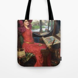 "John William Waterhouse - ""I am half sick of shadows"" said the Lady of Shalott Tote Bag"