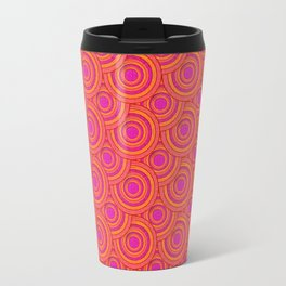 Tropical Parasols Pattern Travel Mug