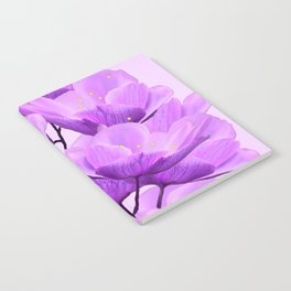 Violet Anemones Spring Atmosphere #decor #society6 #buyart Notebook