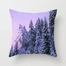 The Dawn In Winter Throw Pillow