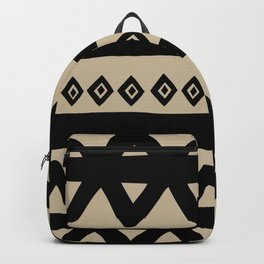 Hand Drawn Tribal - Triangle Stripes Pattern Backpack