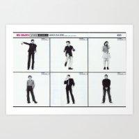 les mis Art Prints featuring Mis-Shapes by Popp Art