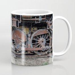 Rusting Drive Wheels of Vintage Steam Train Locomotive Coffee Mug