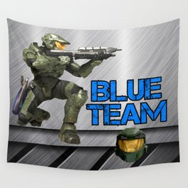Blue Team Wall Tapestry