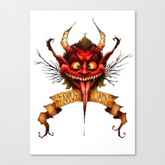 Krampus is Coming Canvas Print