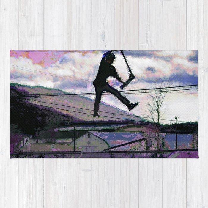 Deck Grab Champion - Stunt Scooter Art Rug