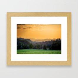 Rainbow Sherbet Framed Art Print