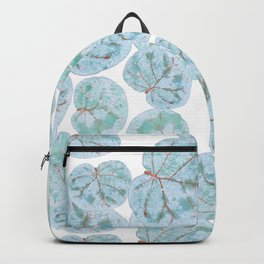Sea Grape Tropical Leaves Backpack
