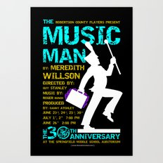 The Music Man Art Print