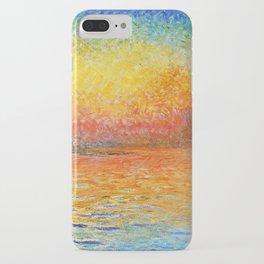Claude Monet Sunset In Venice iPhone Case