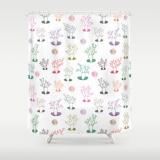 Cacti under the moon Shower Curtain