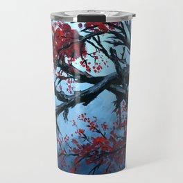 Japanese Cherry Blossum flowers Travel Mug