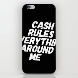 Cash Rules CREAM iPhone Skin